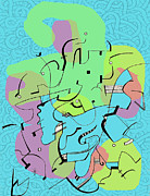 Miro Prints - Random Lines  Print by Andy  Mercer