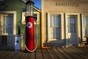 Rustic Digital Art Posters - Randsburg Pump Poster by Mike Hill