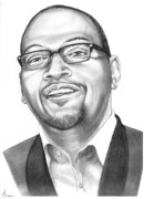 Idol Drawings - Randy Jackson by Murphy Elliott