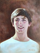 White Shirt Paintings - Randy by Sonsoles Shack