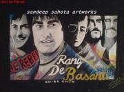Blockbuster Art - Rang De Basanti by Sandeep Kumar Sahota