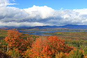 Maine Metal Prints - Rangeley Lake Autumn View Metal Print by John Burk