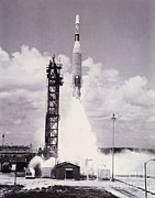 Cape Kennedy Art - Ranger 7 Launch by Science Source