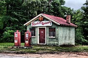 Pumps Painting Prints - Rankins Grocery in Watercolor Print by Lynne Jenkins