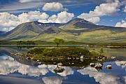 Lochan Posters - Rannoch Moor and the Black Mount Poster by John McKinlay