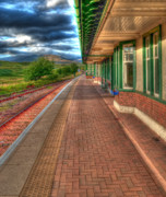 Rannoch Photo Prints - Rannoch Station Platform Print by Chris Thaxter