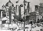 Train Station Drawings - Rapid Drawing of Flinders Street by Richard Mclean