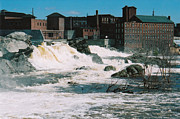 Lewiston Prints - Rapid mill town Print by Brian Beller