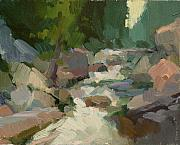 Salmon Paintings - Rapids at Salmon La Sac by Kathryn Townsend