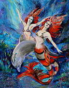 Mermaid Mixed Media - Rapture by Karon Melillo DeVega