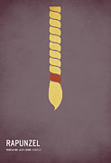 Minimalist Digital Art Prints - Rapunzel Print by Christian Jackson