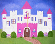 Nursery Paintings - Rapunzels Castle by Samantha Shirley
