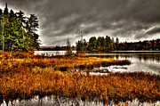 Fir Trees Photos - Raquette Lake in the Adirondacks by David Patterson