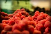 Taste Framed Prints - Raspberries at the Market Framed Print by Tom Buchanan
