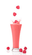 Strawberry Smoothie Metal Prints - Raspberry and Strawberry Smoothie Metal Print by Christopher and Amanda Elwell