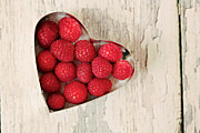 Raspberry Photo Framed Prints - Raspberry Heart Framed Print by Kim Fearheiley