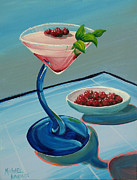 Wayne Thiebaud Framed Prints - Raspberry Mojito Framed Print by Michael Baum