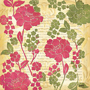 Raspberry Paintings - Raspberry Sorbet Floral 1 by Debbie DeWitt