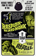1960s Movies Posters - Rasputin The Mad Monk, Christopher Lee Poster by Everett