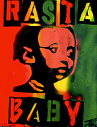 First Amendment Paintings - Rasta Baby by Tony B Conscious