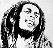 Robbi Musser Drawings - Rasta Man by Robbi  Musser