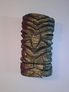 Island Sculptures - Rasta Tiki  by Justin  Carver