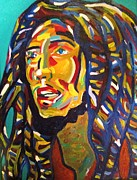 Rastafarian Paintings - Rastaman Vibration by Ax Fine Arts  Prints On Demand