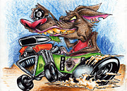 Custom Ford Drawings Metal Prints - Rat Mobile Too Metal Print by Big Mike Roate