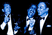 Pop Singer Framed Prints - Rat Pack at Carnegie Hall Framed Print by DB Artist