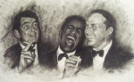 Frank Sinatra Metal Prints - Rat Pack Metal Print by Cynthia Campbell