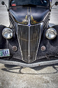 Custom Car Prints - Rat Rod Bonneville Salt Flats Print by Holly Martin