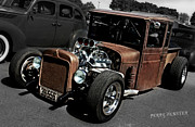Rusted Cars Framed Prints - Rat Rod Class Framed Print by Perry Webster
