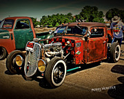 Yellow Paint Framed Prints - Rat Rod For Sale Framed Print by Perry Webster