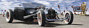 Route 66 Prints - Rat Rod On Route 66 2 Print by Mike McGlothlen