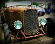 Yellow Paint Framed Prints - Rat Rod Roadster Framed Print by Perry Webster