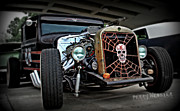 Yellow Paint Framed Prints - Rat Rod Style Framed Print by Perry Webster