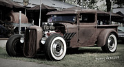 Rusted Cars Photos - Rat Rod Trucking 2 by Perry Webster