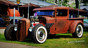 Rusted Cars Framed Prints - Rat Rod Trucking Framed Print by Perry Webster