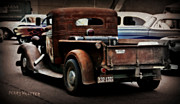 Rusted Cars Framed Prints - Rat Rod Work Truck Framed Print by Perry Webster
