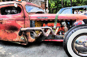 Mopar Metal Prints - Ratrod Rust Metal Print by Tony  Bazidlo