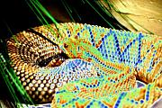 Reptiles Digital Art Metal Prints - Rattler Metal Print by Peter  McIntosh