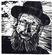 Woodcut Originals - Rav Dessler by Charles Sutton