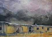 Storms Drawings - Ravages Of The Storm by Joan Edge