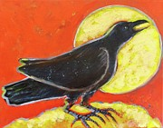 Corax Prints - Raven and the Sun Print by Carol Suzanne Niebuhr