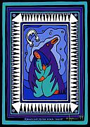 Shamanic Prints - Raven Holds Me When I Weep Print by Angela Treat Lyon