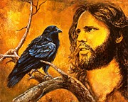 Jim Morrison Paintings - Raven by Igor Postash