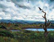 Laura Iverson - Raven in a Bleak Landscape
