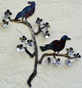 Blossom Sculptures - Raven by Karman Rheault