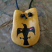 Landmarks Jewelry Originals - Raven Medicine Bag by Paula Bidwell