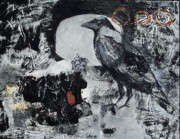 Corporate Painting Prints - Raven Morgan 005 Print by Donna Frost